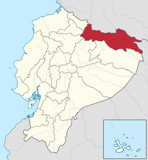 El sector se ubica en Sucumbíos, al norte del país